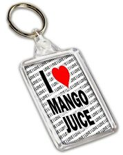 I Love Mango Juice Keyring - Gift - Birthday - Christmas - Stocking Filler