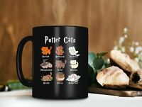 Potter Cats Mug Harry Potter Mug Hogwarts School Lover Mug Magic Cat Mug 1611...