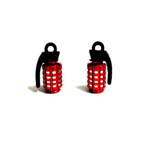 2x Red Aluminum Motorcycle Wheel Tire Tyre Valve Stem Caps For Yamaha