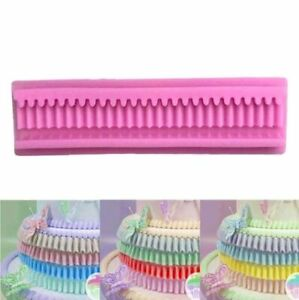 Frill Pleated Swag Border Silicone Mould Cake Icing Mould RB UK SELLER