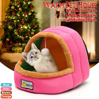 Winter Soft Warm Pet Dog Cat Puppy Bed House Cave Kennel Cushion Pad Washable