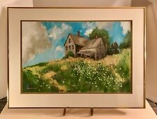 Listed Maine Artist Orrin A. Tubbs Signed Oil Painting Landscape with Farmhouse