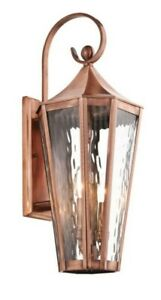 """Kichler 49513 Antique Copper Rochdale Collection 2-Light 25"""" Outdoor Wall Light"""
