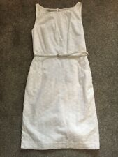 BNWOT Nine West White Cotton Summer Dress Lined With Belt Us6 Fits 8