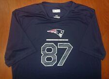 NFL New England Patriots Football Rob Gronkowski Performance T-Shirt L ~NEW~