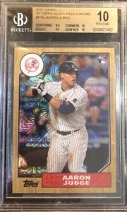 AARON JUDGE 2017 TOPPS '87 SILVER PACK CHROME REFRACTOR ROOKIE BGS 10 PRISTINE💎