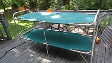 Vintage Sears Perfection Double Deck Aluminum Folding Camp Cot Bunk Sleeper &Box