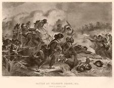 AMERICAN CIVIL WAR. Battle at Wilson's Creek. General Lyon's death.Missouri 1864