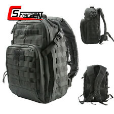 40L Military Assault Molle Tactical Backpack Outdoor Camping Hiking Bag Black