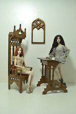 Gothic set furniture 1/6 1:6 scale furniture for barbie FR IT OOAK wooden v1