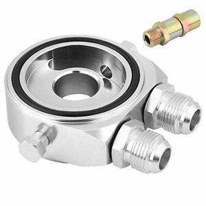 Car Oil Filter Cooler Kit Sandwich Plate Adapter Sensor 1/8 NPT M20 x 1.5 10AN