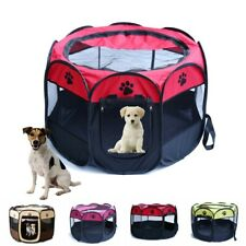 New Portable Dog Playpen Small Puppy Dog Cat Pet Tent Travel Home Garden Bed UK