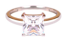 Shape Solitaire Women's Engagement Ring 2.50 Carat 925 Sterling Silver Princess