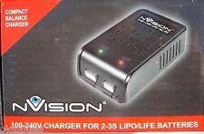 NVision nvo2015 nVision Caricatore 100-240v 10w per 2-3s LiPo/LiFe batterie-NUOVO