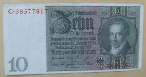 Germany banknote 10 mark dated 1929