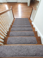 Soft Shaggy New Carpet Stair Treads NON-SLIP MACHINE WASHABLE Mats/Rugs, 22x67cm