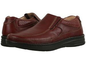 Drew Men's Bexley Extra Depth Slip On Shoes - Brown Tumbled Size 9.5 Wide NWB