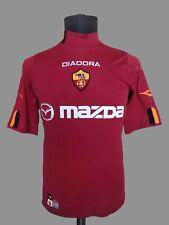 AS Roma Jersey 2004/05 Football Diadora Nylon Shirt Mazda Italy Lupi Soccer SzM