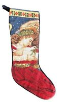 Needlepoint Christmas Stocking Lynn Bywaters Angel Of Peace Dove Wool Finished