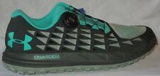 MEN'S UNDER ARMOUR FAT TIRE 3 HIKING TRAIL SHOES BOA BLACK GREEN SZ SIZE 9.5