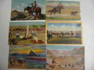 25 Older Cowboy Postcard Lot
