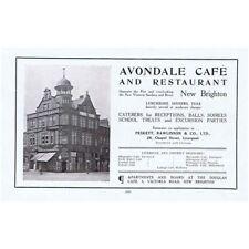 NEW BRIGHTON Avondale Cafe & Restaurant - Vintage Advertising Print 1914