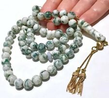 17k 18k gold Antique/Vintage prayer beads Agate prayer beads with tassels