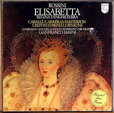 3 LP BOX PHILIPS Rossini ELISABETTA Masini CABALLE CARRERAS 6703 067 NM