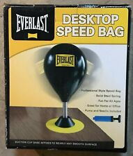 Everlast Desktop Speed Bag Professional Style Solid Steel Spring w/ Pump  NEW