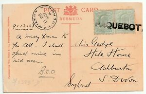 1907 RARE HAMILTON BERMUDA PAQUEBOT HOSKING 3/2383 RARITY D FISH DEVILS HOLE PPC