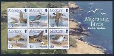 2005 ALDERNEY MIGRATING BIRDS PART 4: WADERS MINISHEET FINE MINT MNH/MUH