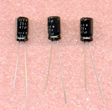 50 pcs 47uf 25V 105C Electrolytic Capacitors Radial High Temperature Capacitor
