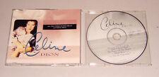 Single CD Celine Dion - Because you loved me 1996  4.Tracks  sehr gut  MCD C 7