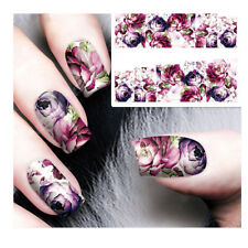 3D Blume Nagel Sticker Tattoo Aufkleber Nail Art Dekoration Nageldesign Neu