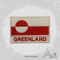 Greenland National Country Flag Patch Iron On Patch Sew On Embroidered Patch