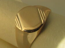 18CT Gold Electroplated Mens / Boys Oval Signet Ring size V W or Y only