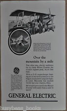 1925 General Electric ad, AIRPLANE supercharger John A. Macready altitude record