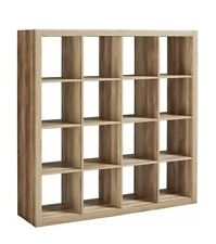 Better Homes And Gardens 16-Cube Storage Organizer Open Back Design Weathered