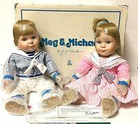 Vintage Danbury Mint Meg & Michael Precious Pairs Twin Boy & Girl Doll Set