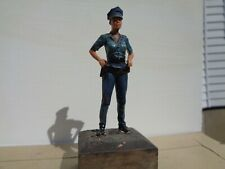 Police officer woman, fantasy resin figure 70mm, hh
