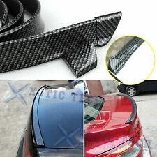 Sport Carbon Fiber Rear Trunk Tail Spoiler Wing Lip Trim Decor Sticker Universal