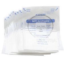 20Packs Ortodóntico Dental NITI Inverso Curva Arco Redondo Alambres 016Upper