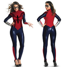 Spider Women Super Hero Costume fancy dress Cosplay bodysuit hen night S-2X
