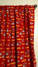 "NFL KANSAS CITY CHIEFS Curtain set 55""W x54""L Things By Michelle Boutique"