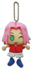 Naruto Shippuden Sakura Plush Keychain NEW AUTHENTIC LICENSED