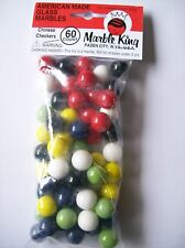 """60 - 9/16"""" CHINESE CHECKER SOLID COLOR GLASS MARBLES REPLACEMENT BOARD GAME PART"""