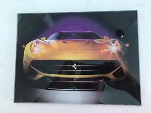 "Color Image of Ferrari Italian Sports Car on Thick Lucite 9 x 12"""
