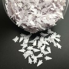 2 oz  WHITE CHRISTMAS TREE GLITTER SEQUINS  Acrylic/Gel Nail Art Crafts