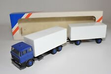 ± LION CAR DAF 3300 TRUCK WITH TRAILER WHITE BLUE NMINT BOXED