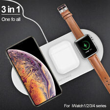 3In 1 Qi Wireless Charger Fast Charging Pad For Apple Watch iPhone 11 Xs